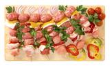 Spiedini di suino e peperoni - Pork skewers