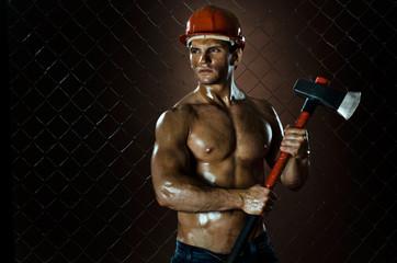 muscular worker