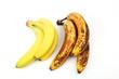 Frische und alte Bananen