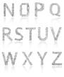 Alphabet of printed circuit boards. Vector. Vector EPS 10