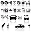 Vector black auto icons set. Car EPS 10