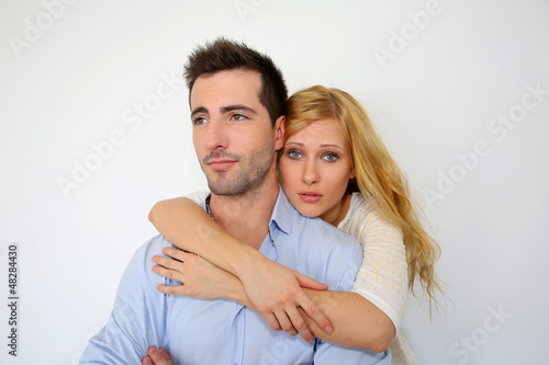 Girl misunderstanding boysfriend's attitude