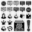 Web shop icon. Best hot offers speech bubbles set.