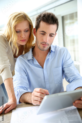 Business partners working from home