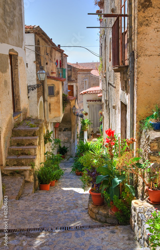 Alleyway. Scalea. Calabria. Italy.