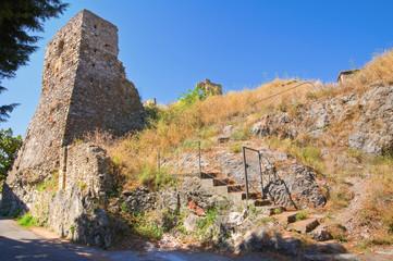 Castle of Scalea. Calabria. Italy.