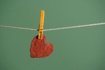 heart dryed on the wire