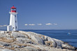 Peggy's Cove lighthouse, Nova Scotia, Canada. - 48286286