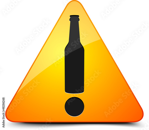 Beer Hazard Sign