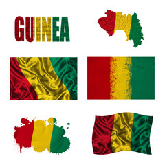 Guinea flag collage