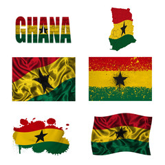 Ghana flag collage