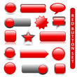 WEB BUTTONS POSTER (RED) (rectangular round blank square)