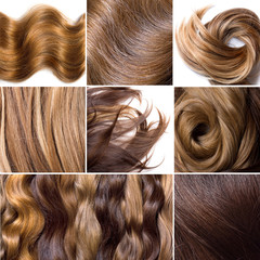 Natural human hair collage