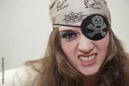 Femme pirate : portrait