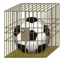 Jailed Soccer Ball