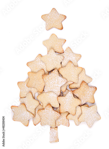 Christmas cookies forming a tree
