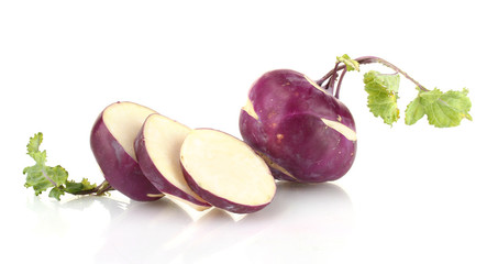 Fresh turnip isolated on white