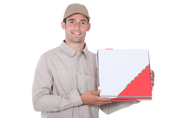 A pizza deliveryman.