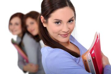 Teens with folders