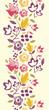 Vector Colorful vibrant flowers elegant vertical seamless