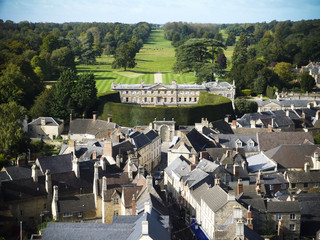 Aerial view of Cirencester Park