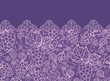 Vector Lace grape vines horizontal seamless pattern background