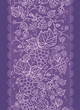 Vector Lace grape vines vertical seamless pattern background
