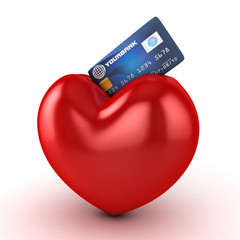 heart and credit card