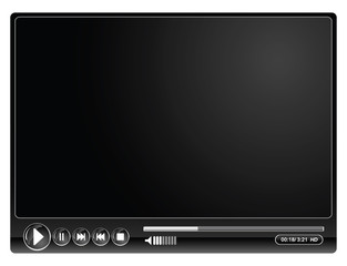media video black player