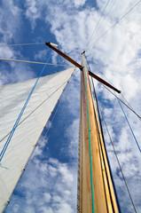 sail yacht mast close-up