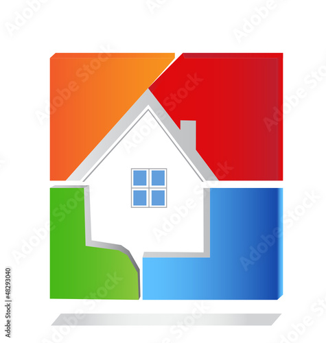House square logo vector