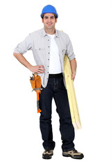 Craftsman with wood slats