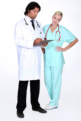 doctor and nurse working together