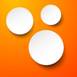 Fototapete Realistisch - Orange - Papier / Karton