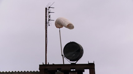 Old windsock and antennas