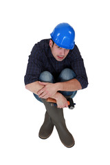 craftsman sitting on the floor