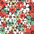 Retro floral seamless, vector pattern