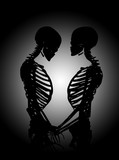 Skeletons In Loving Pose