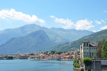 Gravedonna town at the famous Italian lake Como