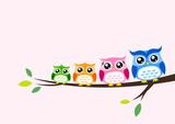 owl family seasonal celebration