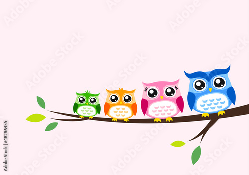 owl family seasonal celebration