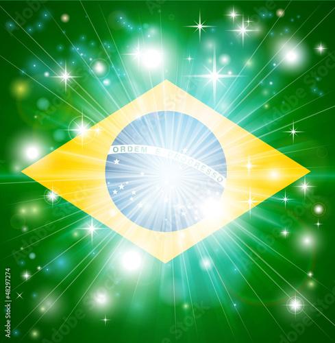 Brazilian flag background