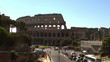 Ancient ruins of great roman amphitheater Colosseum, Rome, Italy