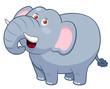 illustration of Cartoon Elephant