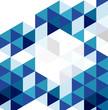 Blue modern geometric design template. Vector abstract