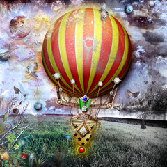 Balloon in the old field