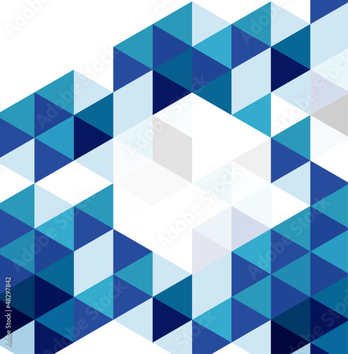 Blue modern geometric design template. Vector abstract