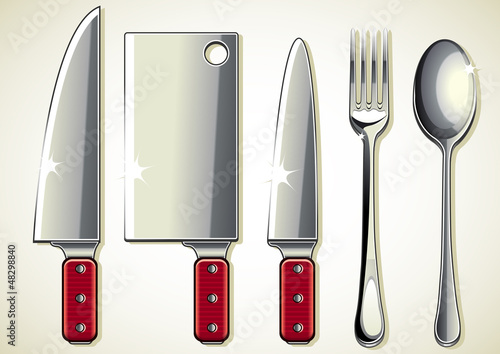 spoon, knifes and fork collection
