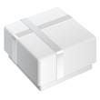 White blank Package Box. For gift. Vector illustration