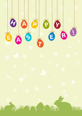 happy easter color cards